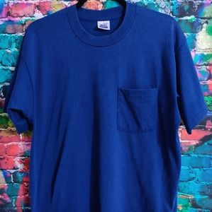 Vintage BVD Single Stitched Made In USA Pocket Tee